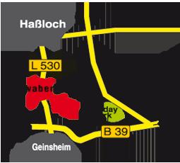 Anfahrtskizze zum Pflanzenzentrum Schibel